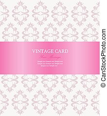 Vintage card. Vector