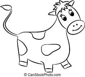 Cartoon cow. Vector