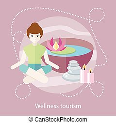 Wellness Tourism. Woman in a Beauty and Spa Salon