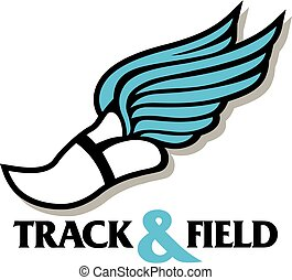 track foot - track and field design with winged track foot