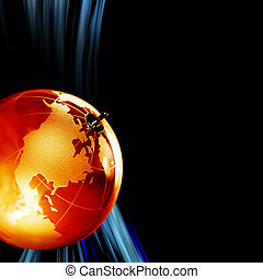 Earth planet,Transparent globe for background. Close up