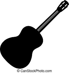 Accoustic Guitar - This is a illustration of a black guitar.