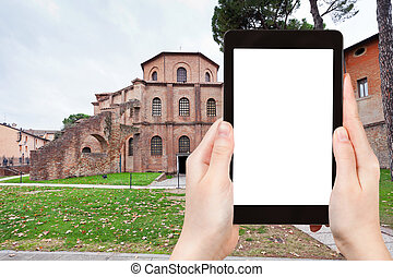 tourist photographs Basilica San Vitale in Ravenna - travel...