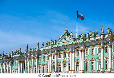 Winter Palace and Hermitage museum in Saint Petersburg,...