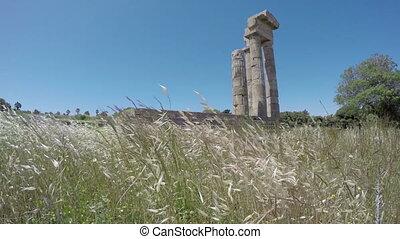 Rhodes Apollo temple ruins 4K - Rhodes historical Apollo...