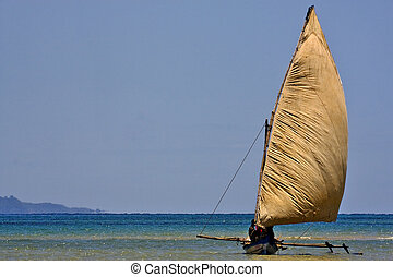 madagascar wind e fishing - a boat for fish in nosy be...