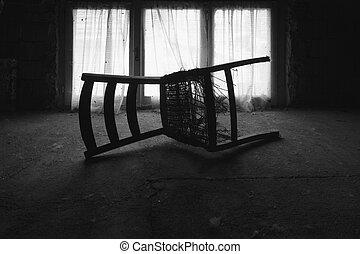à, Krzesło, w, przedimek określony przed...