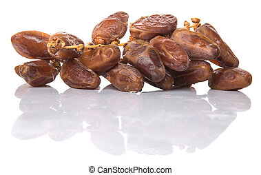Date Fruits - Date fruits over white background