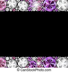 Abstract Luxury Black Diamond Background Vector Illustration...