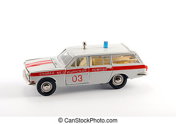 Ambulance car - Collection scale model of the ambulance car...
