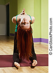 Backbend pose palms folded - Backbend yoga pose pose palms...