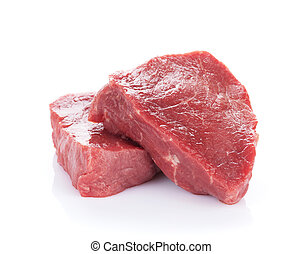 Fillet steak beef meat. Isolated on white background