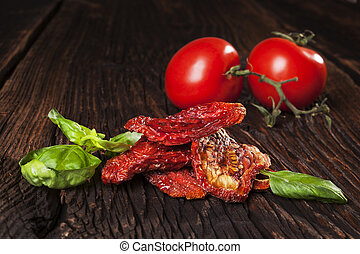 Sundried tomatoes. - Delicious dried tomatoes, fresh ripe...