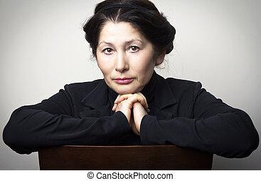 Portrait of the woman - Portrait of senior woman asian...