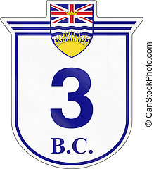 British Columbia Highway 3 - Shield for the British Columbia...