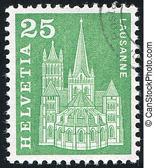 Lausanne - SWITZERLAND - CIRCA 1960: stamp printed by...