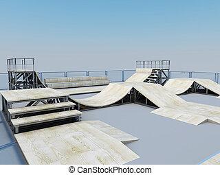 Platform for a skating or roller Aggressive inline skating...