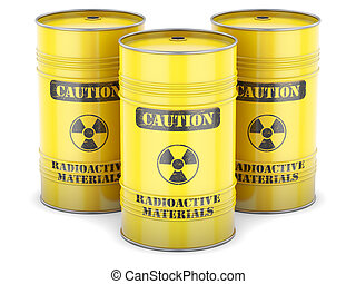 Radioactive waste barrels - Radioactive waste nuclear...