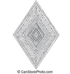 部落, 初始,  doddle, 菱形,  3, 种族, 圖畫