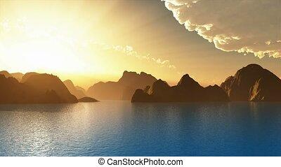 landschaftlich, Ansicht, Inseln
