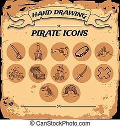 Pirate icon set
