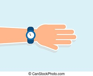 Hand Wrist Watch - Hand extended with wrist watch