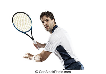 Tennis Player - Tennis player on a white background