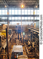 steam turbine on power plant - Pipes, tubes, machinery and...