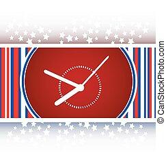 Clock icon web button sign vector