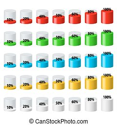 Progress bar icons set Download progress, web design symbol