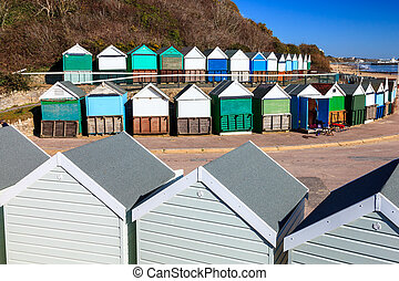 Middle Chine Beach Huts Dorset - Beach huts at Middle Chine...