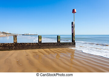 Bournemouth Beach Dorset - Groyne on Bournemouth Beach...