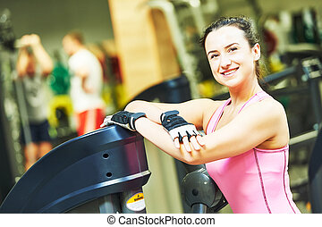 female instructor portrait at a gym - woman instructor...