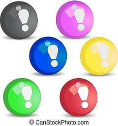 exclamation mark button - The vector button of an...