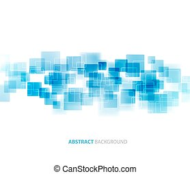 Blue shiny squares technical background Vector - Blue shiny...