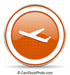 deparures orange icon plane sign