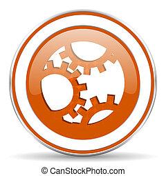 橙, 簽署, 齒輪, 圖象, 設置