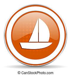橙, 航行, 游艇, 圖象, 簽署