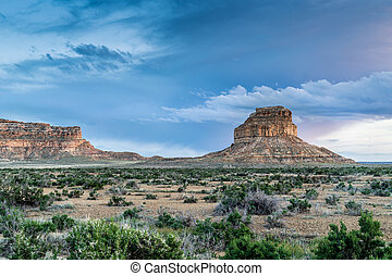 Fajada Butte in Chaco Culture National Historical Park, NM,...