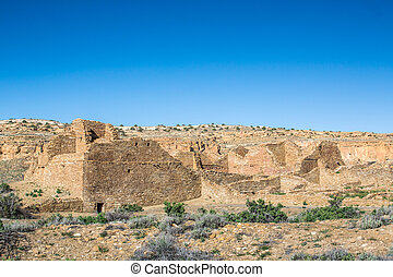 Buildings in Chaco Culture National Historical Park, NM, USA...