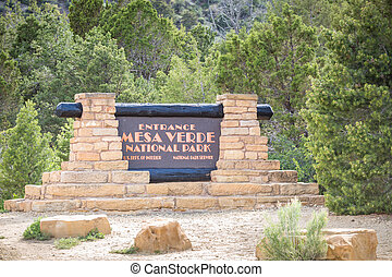 Entering Mesa Verde National Park, USA - Entering Mesa Verde...