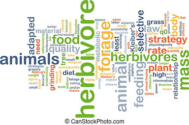 Herbivore background concept - Background concept wordcloud...
