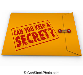 Can You Keep a Secret Yellow Envelope Stamp - Can You Keep A...