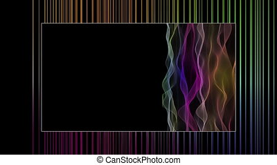 Fantastic video animation with waves and stripes in motion,...