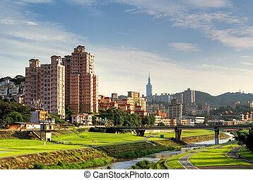 suburb cityscape of Taipei - Beautiful suburb cityscape of...