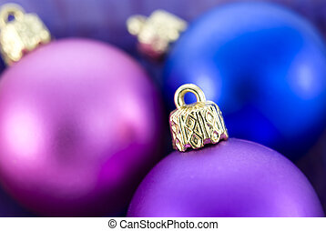 Christmas Tree Baubles - Christmas tree colorful balls