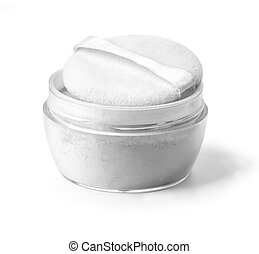 Face powder on white background with clipping path