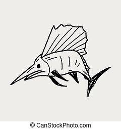 garabato, pez espada