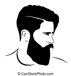 man silhouette hipster style, vector illustration