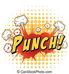 Punch - Word punch with explosion background